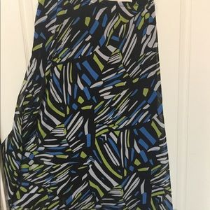 Skirt plus size 24W lined flair